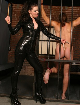 Latex Mistress Slave Training