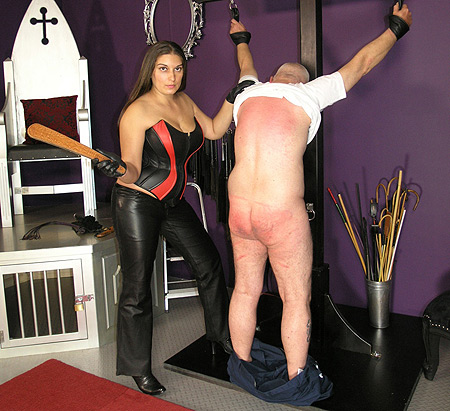Busty Mistress Spanking