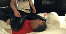 Femdom MIstress In Leather Pants